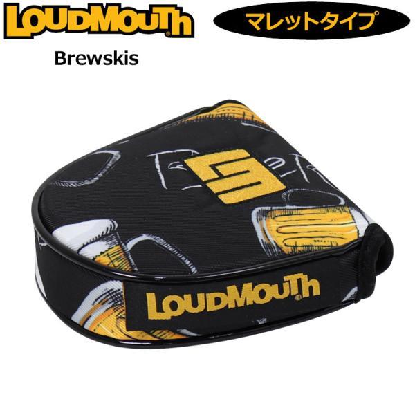 日本規格ラウドマウス2021パターカバーマレットタイプヘッドカバーブリュースキーLM-HC0008/MT761983(237)2