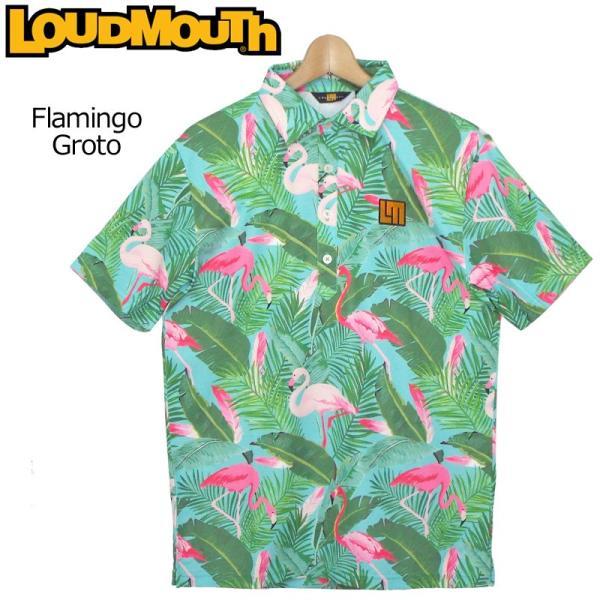 ラウドマウスゴルフウェアメンズ半袖ポロシャツ吸水速乾UVカットプレミアムカノコ769604185日本規格19SSLoudmout
