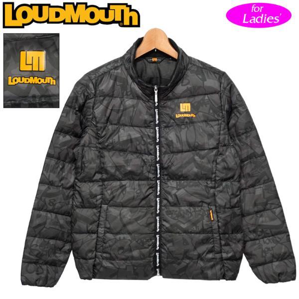 日本規格 ラウドマウス レディース ダウンジャケット 撥水加工 ブラック 770251(998) 防寒 20FW ライトダウン ブルゾン 中綿 アウター ゴルフウェア