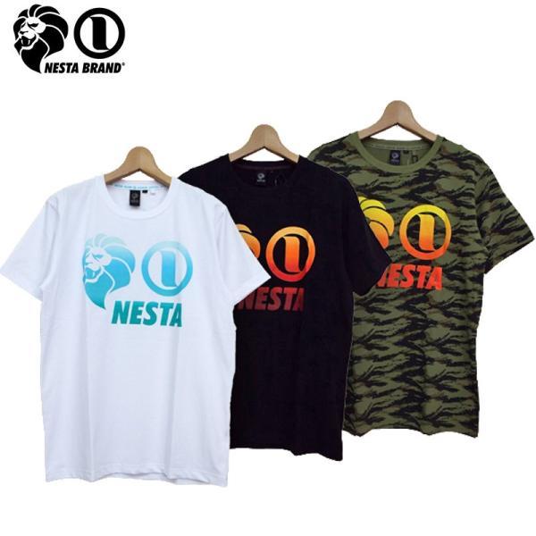 NESTA BRAND メンズ 半袖 Tシャツ グラデーション 182NB1000 ネスタブランド 18SS メール便発送