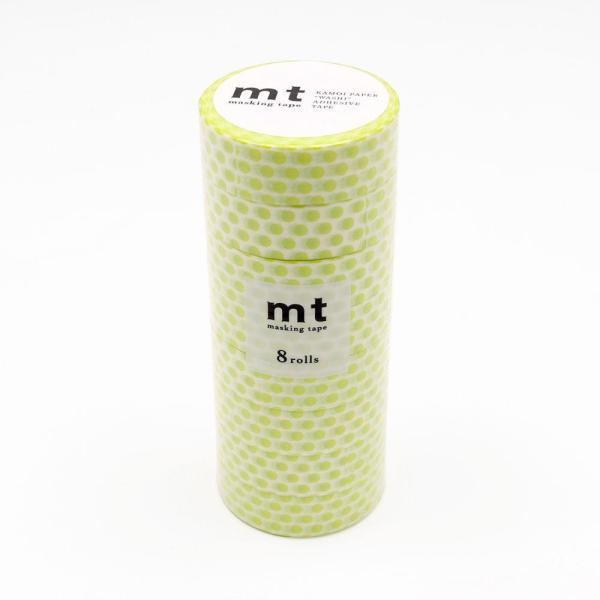 mt マスキングテープ 8P ドット・ライム MT08D362