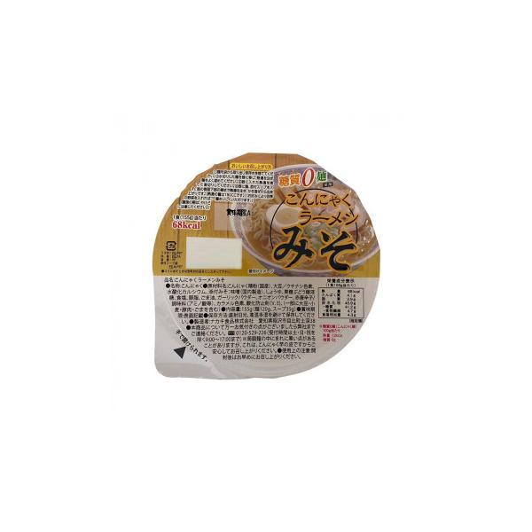 〔取寄〕ナカキ食品 カップこんにゃくラーメンシリーズ 蒟蒻ラーメンみそ 12個セット×2ケース〔軽減税率対象商品〕