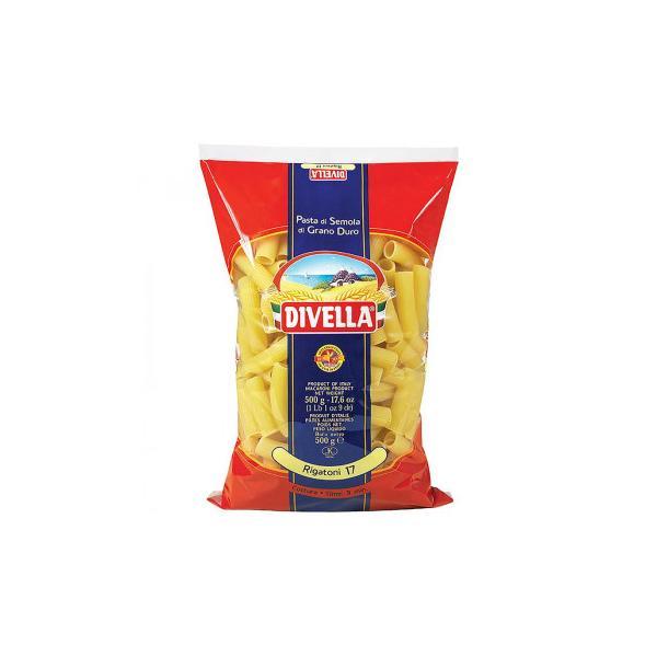 〔取寄〕DIVELLA ディヴエッラ パスタ 17リガトーニ 500g 24袋セット 606-148〔軽減税率対象商品〕