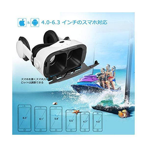 Canbor VRゴーグル スマホ用 VRヘッドセット iPhone android 3D VRグラス メガネ 動画 ゲーム 4.0-6.3インチのスマホ対応 golflandshop 04