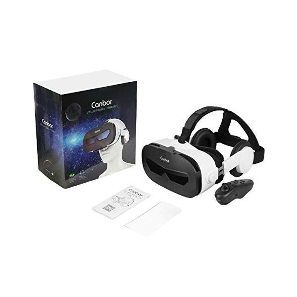 Canbor VRゴーグル スマホ用 VRヘッドセット iPhone android 3D VRグラス メガネ 動画 ゲーム 4.0-6.3インチのスマホ対応 golflandshop 07