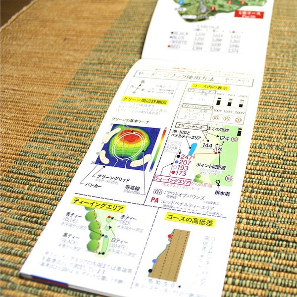 【送料込み】ヤーデージブック ニュー軽米カントリークラブ(岩手)|golfnavi|03