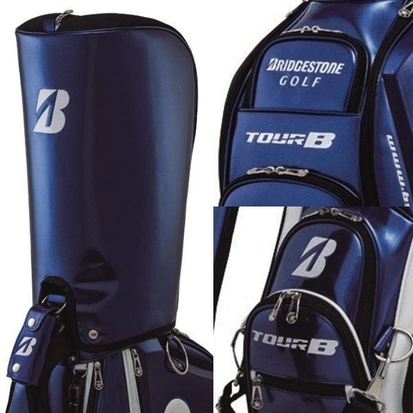 【17年モデル】【展示会受注限定】ブリヂストンゴルフ キャディバッグ プロレプリカ 総エナメルモデル CBG8GR (Men's) BRIDGESTONE GOLF|golfolympic|03