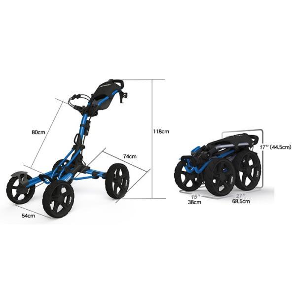クリックギア モデル8.0 プッシュカート (ブルー)|golfshoplb|03