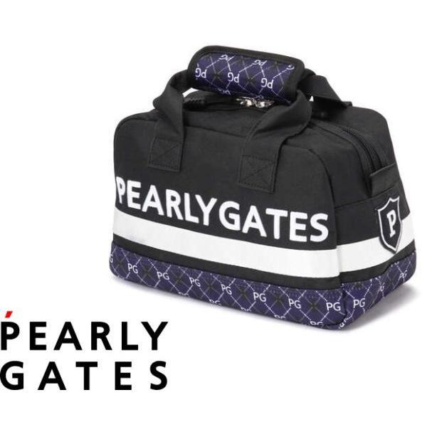 【NEW】PEARLY GATES パーリーゲイツ アーガイル柄 ミニボストン型カートバッグ 053-1281901/21C