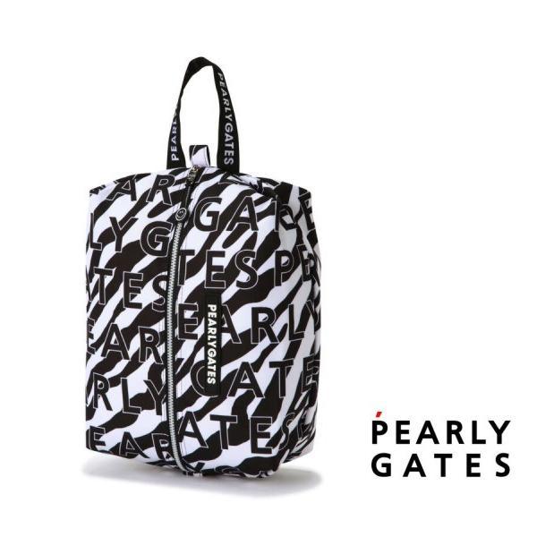 【NEW】PEARLY GATES パーリーゲイツ JUST LIKE ZEBRA!ゼブラ柄 シューズケース 053-1284026/21D