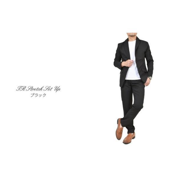 スーツ メンズ セットアップ 上下セット ストレッチ テーラードジャケット 無地 チェック柄 春 夏 おしゃれ 春夏 2019 BG-SET9309|golfwear|12
