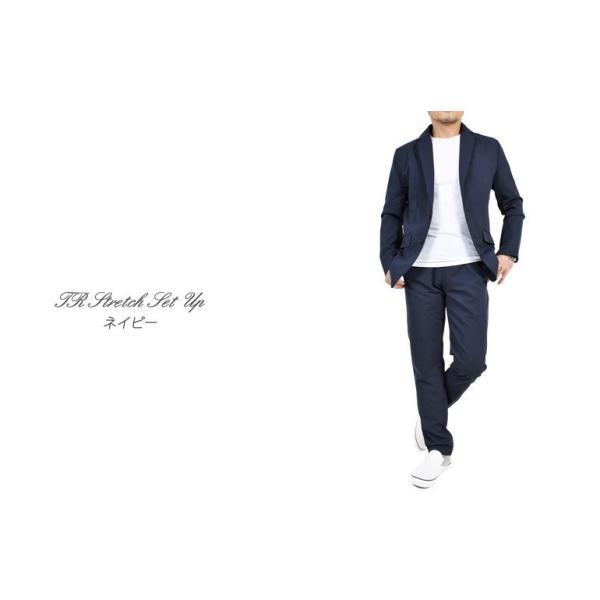 スーツ メンズ セットアップ 上下セット ストレッチ テーラードジャケット 無地 チェック柄 春 夏 おしゃれ 春夏 2019 BG-SET9309|golfwear|14
