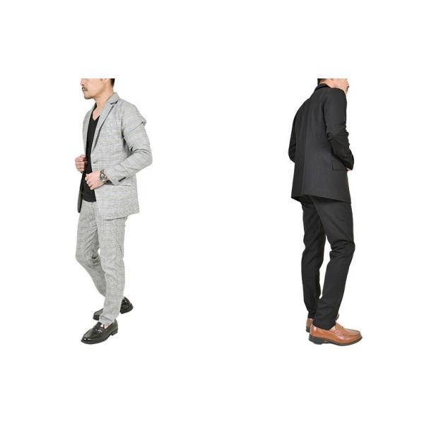 スーツ メンズ セットアップ 上下セット ストレッチ テーラードジャケット 無地 チェック柄 春 夏 おしゃれ 春夏 2019 BG-SET9309|golfwear|16