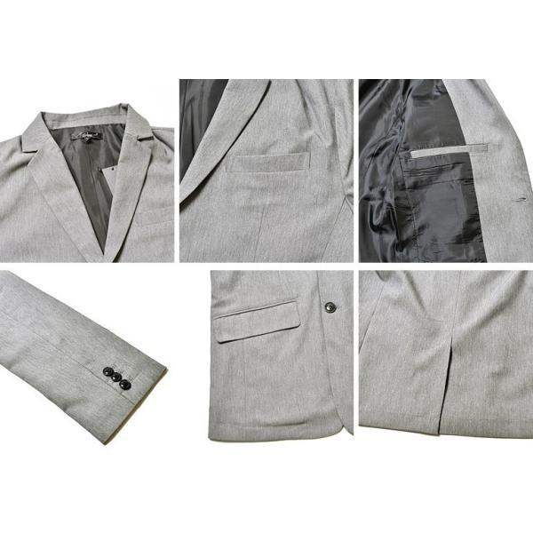 スーツ メンズ セットアップ 上下セット ストレッチ テーラードジャケット 無地 チェック柄 春 夏 おしゃれ 春夏 2019 BG-SET9309|golfwear|05