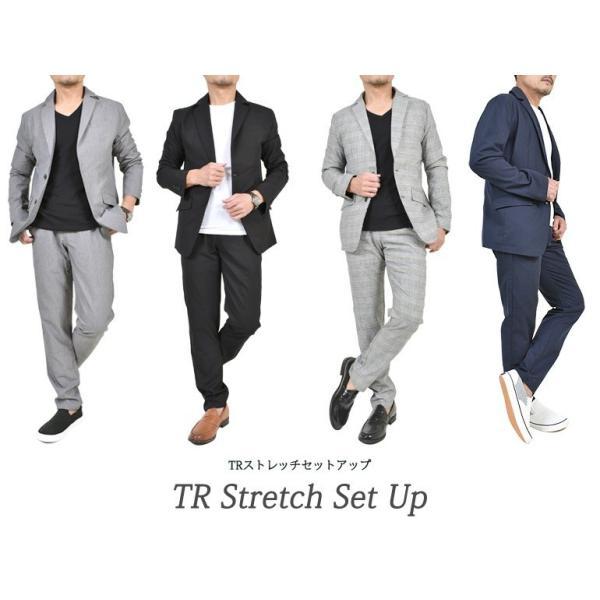 スーツ メンズ セットアップ 上下セット ストレッチ テーラードジャケット 無地 チェック柄 春 夏 おしゃれ 春夏 2019 BG-SET9309|golfwear|07