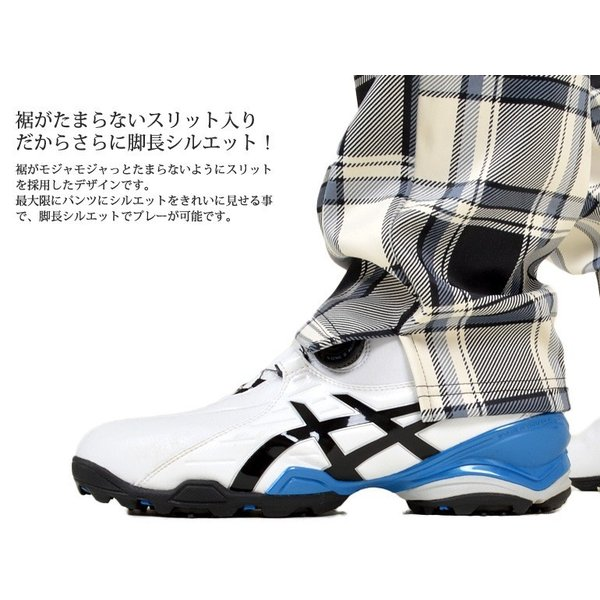 ゴルフウェア メンズ パンツ ゴルフパンツ 大きいサイズ ズボン 裏フリース ストレッチ チェック柄 おしゃれ 秋冬 秋 冬  CG-G150925 |golfwear|04