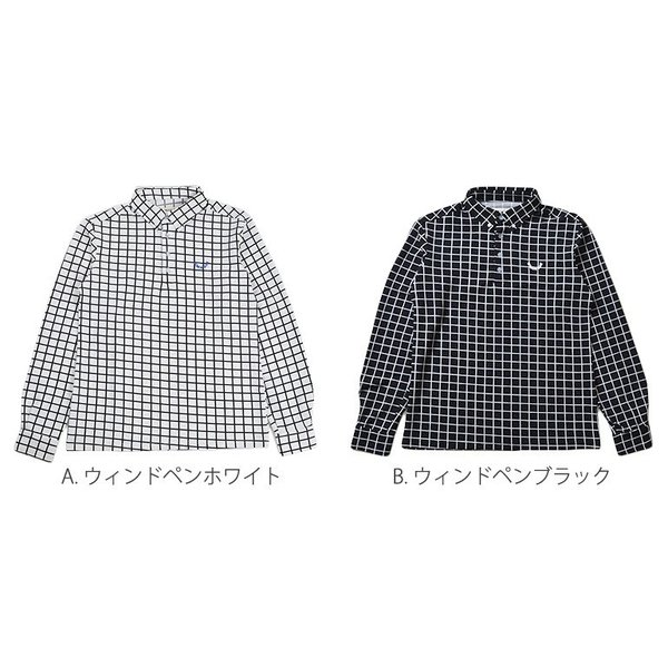 ポロシャツ メンズ ゴルフウェア  長袖  秋 冬ボタンダウン CG-LP543|golfwear|02