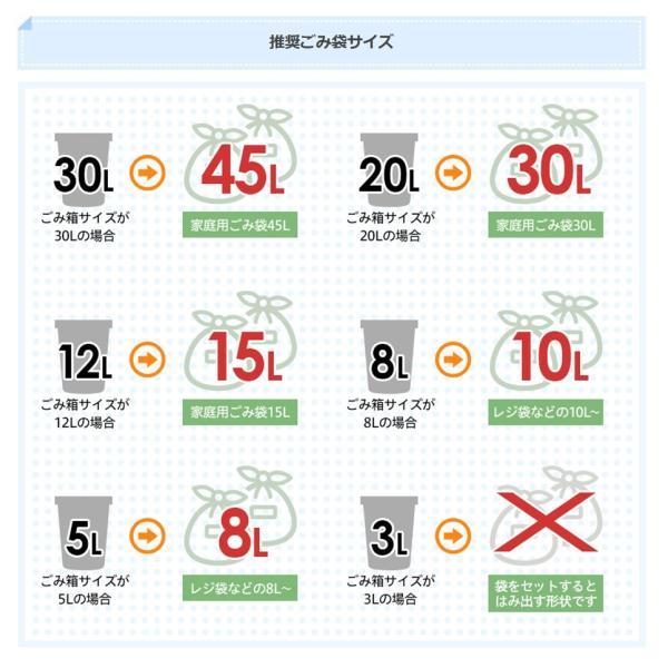 JAVA Effie ペダルビン ステンレス ゴミ箱 20L  / インナーボックス付 30Lゴミ袋対応 丸型ペダル式 ダストボックス|gomibako-world|05