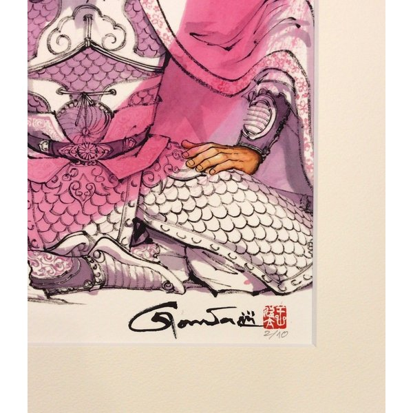 王欣太『蒼天航路』極厚本表紙 版画「劉備」|gontamecca|03