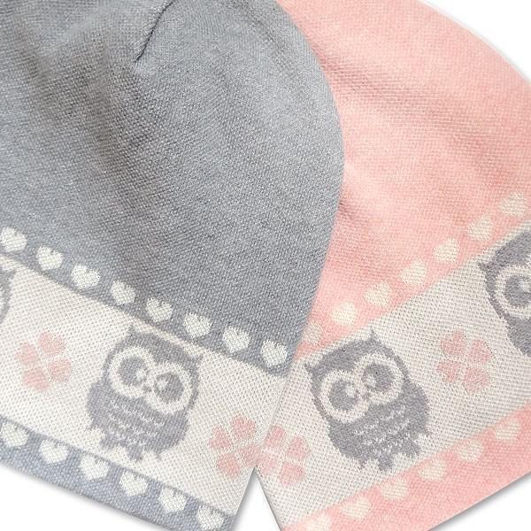 医療用帽子 おしゃれ 抗がん剤 帽子 オーガニックコットン100% レディース ニット帽 フクロウ柄 女性 入院  かわいい ケア帽子 日本製|goo-box|08