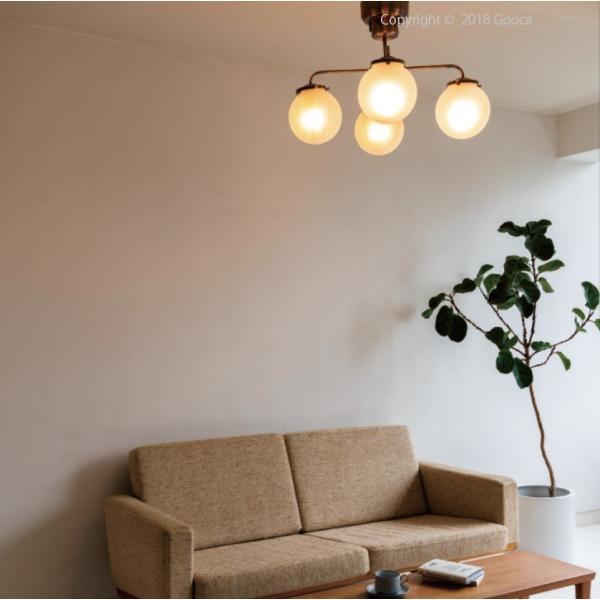Giverny(ジベルニー)シーリングライト 照明 おしゃれ スチール ガラス アンティーク リビング ダイニング LED リモコン 送料無料 アンレック|goocafurniture|03