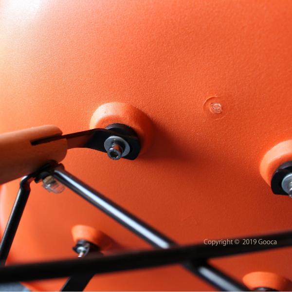 アームチェア ダイニング 椅子 ホワイト おしゃれ 北欧 黒 白 オレンジ シェルチェア DAW|goocafurniture|11