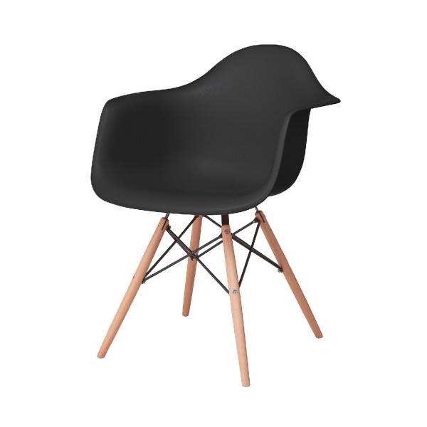 アームチェア ダイニング 椅子 ホワイト おしゃれ 北欧 黒 白 オレンジ シェルチェア DAW|goocafurniture|12