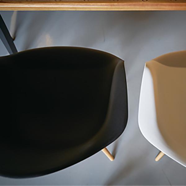 アームチェア ダイニング 椅子 ホワイト おしゃれ 北欧 黒 白 オレンジ シェルチェア DAW|goocafurniture|13