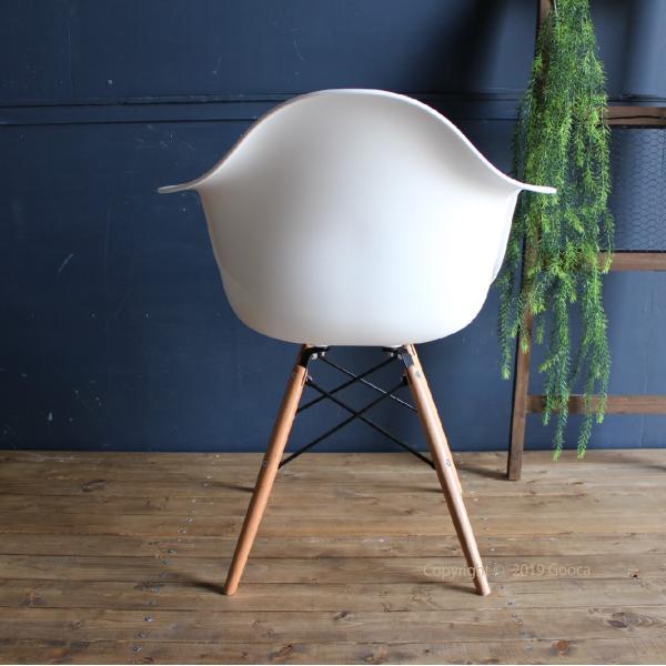 アームチェア ダイニング 椅子 ホワイト おしゃれ 北欧 黒 白 オレンジ シェルチェア DAW|goocafurniture|04