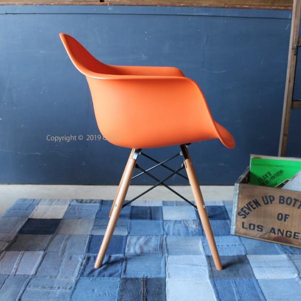 アームチェア ダイニング 椅子 ホワイト おしゃれ 北欧 黒 白 オレンジ シェルチェア DAW|goocafurniture|09