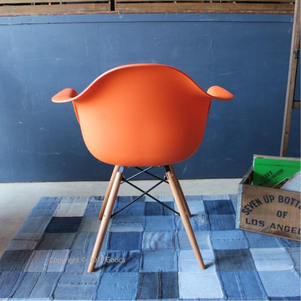 アームチェア ダイニング 椅子 ホワイト おしゃれ 北欧 黒 白 オレンジ シェルチェア DAW|goocafurniture|10