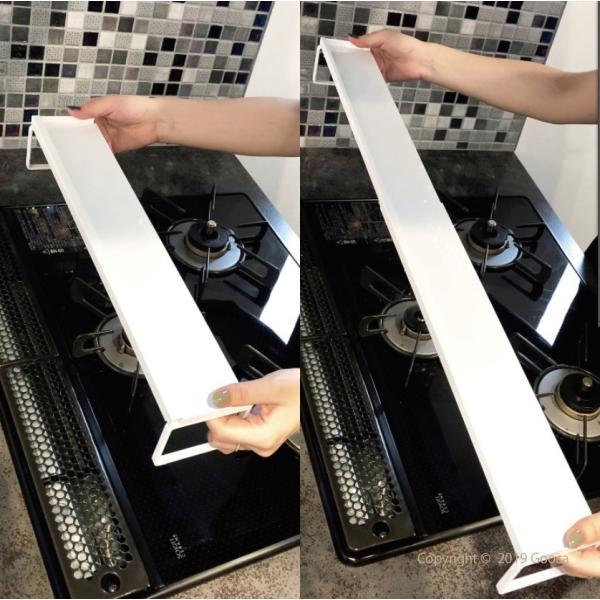 TOWER 排気口カバー ラック 白 黒 おしゃれ 排気口カバーラック 油よけ オーブンカバー シンプル 伸縮式|goocafurniture|08