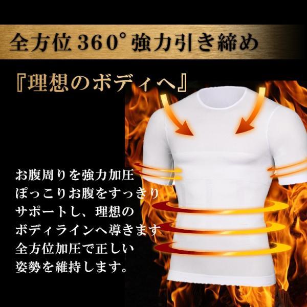 加圧シャツ ダイエット 加圧インナー Tシャツ 半袖 メンズ 着圧 補正下着 good-co 03