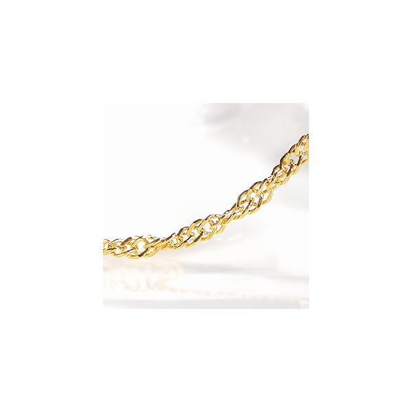 K24 純金 ゴールド スクリューネックレス 43cm 1.4mm 24金 チェーン エレガント 024screw43k