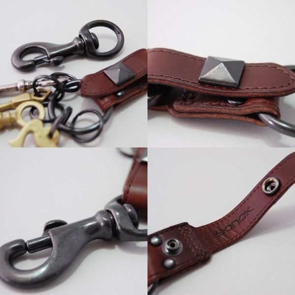 キーホルダー おしゃれ メンズ レザー 牛革 D-67 日本製 DONOK 4色から ダナック オリジナル 紳士用 バッグやベルトなどに|good-s-plus|02