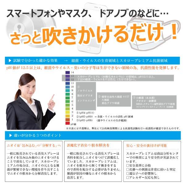 ウイルス対策スプレー スカロープレミアム 強力抗菌スプレー 100ml 日本製 ノンアルコール 殺菌  ドアノブの除菌 マスクの除菌 消臭 安心安全|good-s-plus|03