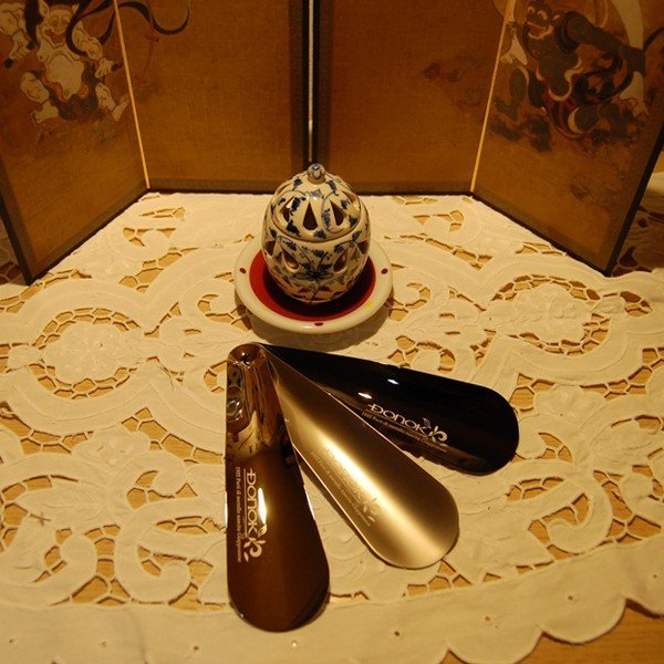 靴べら 携帯 おしゃれ DONOK U-メタル158 シューホーン ミラロイニッケル ダナック 日本製 シューホン 真鍮 ミドルサイズ