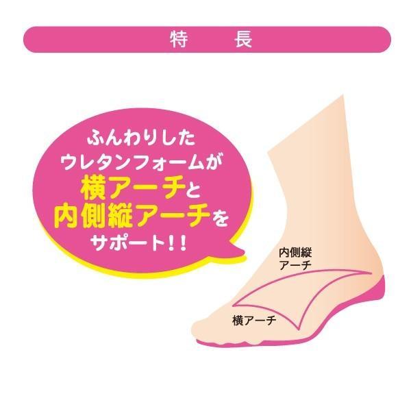 インソール 中敷き レディース for FITTING ARCH 婦人 パンプス ブーツ アーチ 散歩 ウォーキング|good-s-plus|02