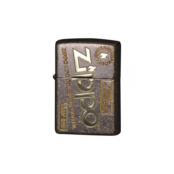 ZIPPO(ジッポー)ライター アンティークオールドZIPPOロゴ 真鍮メッキ 2BB-ZLOGOFL