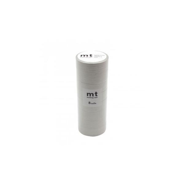 予約品 mt マスキングテープ 8P パステルパールグレー 幅15mm×7m 同色8巻パック MT08P497