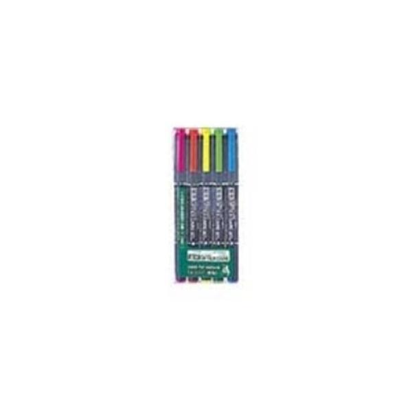(業務用10セット) ZEBRA ゼブラ 蛍光マーカー/蛍光オプテックスケア 〔5色セット〕 水性顔料インク WKCR1-5C