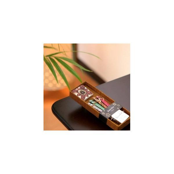 お香/お香立てセット 〔フルーツ系 スティックタイプ〕 バリ島製 「Jupen Bari/ジュプンバリ」