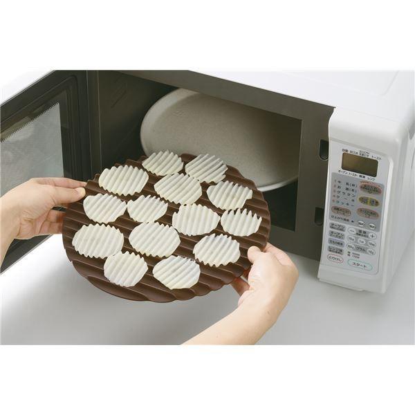 ポテトチップスメーカー/調理器具 〔スライサー付き〕 電子レンジ対応 『レンジで作るざく切りチップス』 〔キッチン 台所〕