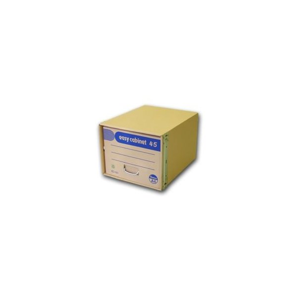 (まとめ) ゼネラル イージーキャビネット 段ボール製・補強材:鉄製 45 EC-101 1個入 〔×2セット〕