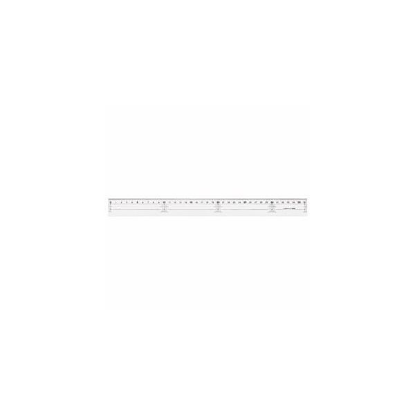 (まとめ) ライオン事務器 アクリル直線定規 30cm A-10 1本 〔×30セット〕