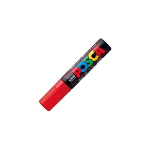 (業務用100セット) 三菱鉛筆 ポスカ/POP用マーカー 〔極太/赤〕 水性インク PC-17K.15