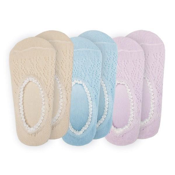 爽やかメッシュカバーソックス/靴下 〔3色組〕 適応サイズ:22〜25cm 綿・ポリエステル