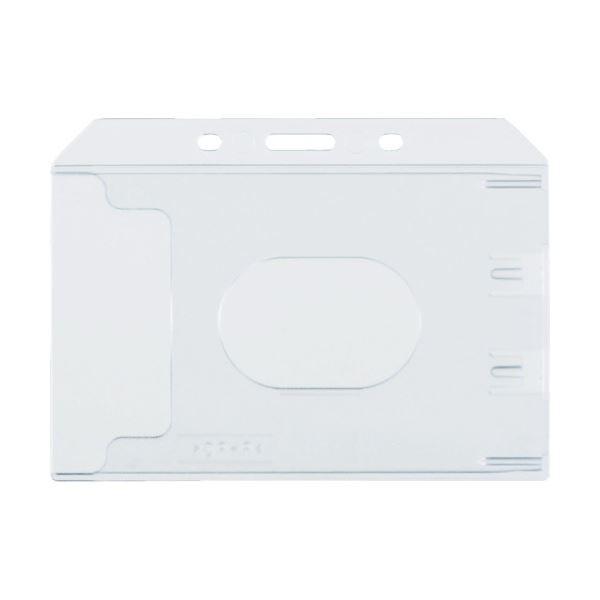 (まとめ) TRUSCO ハード名札ケース名刺サイズ TNH-47 1袋(10枚) 〔×5セット〕