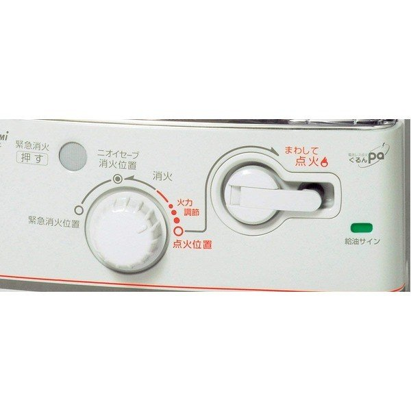 TOYOTOMI 反射式石油ストーブ 電池レス RS-G240-W ホワイト