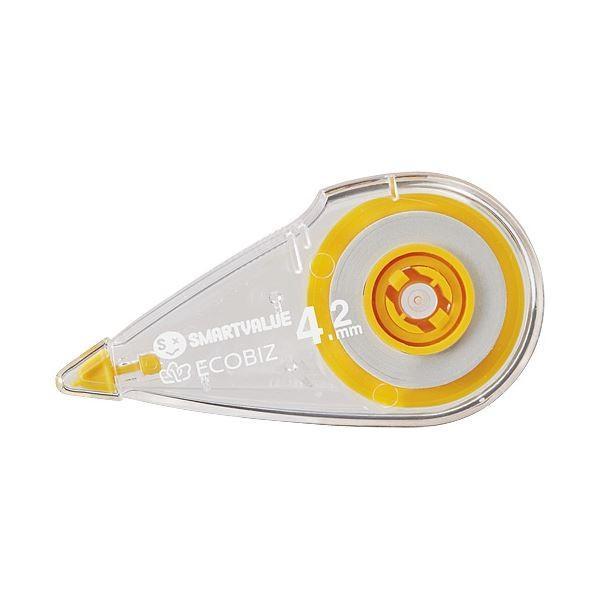 (まとめ) スマートバリュー 修正テープ 4.2mm×8m 40個 H070J-Y40〔×3セット〕